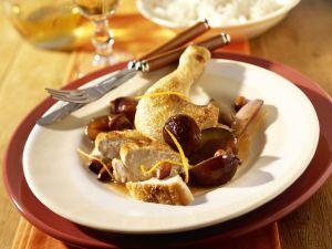 Hühnchen mit Pflaumen-Mandel-Sauce Rezept