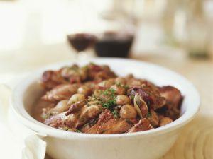 Huhn in Weinsoße (Coq au Vin) Rezept
