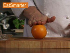 Wie Sie eine Orange optimal auspressen
