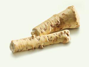 Asiatische Schärfe: Meerrettichwurzel und Wasabi