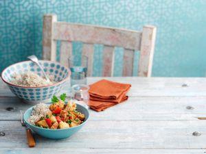 Indischer Gemüse-Kartoffeltopf mit Koriander Rezept
