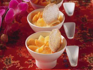 Ingwer-Soja-Creme mit Obst Rezept