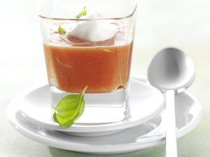 Ingwer-Tomatensuppe mit Sahne Rezept