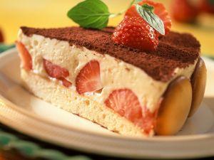 Italienische Erdbeer-Quark-Torte Rezept