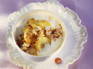 Joghurt mit gebratenem Apfel Rezept