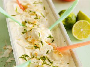 Joghurtparfait mit Limette und Kokos Rezept