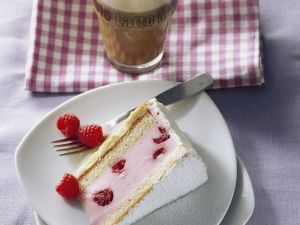 Joghurttorte mit Himbeeren Rezept