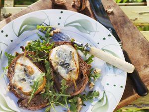 Käse-Birnen-Brot aus dem Ofen Rezept