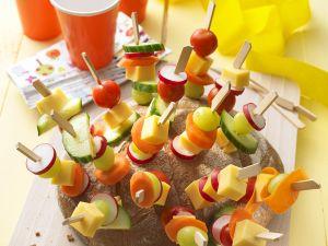 Käse-Igel mit Gemüse Rezept
