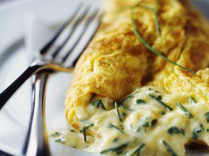 Käse-Schnittlauch-Omelett Rezept