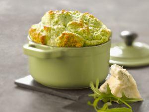 Käse-Soffle mit Rucola Rezept