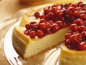Käsekuchen mit Cranberries Rezept