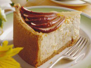 Käsekuchen mit Honig-Apfel Rezept