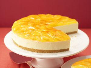 Käsekuchen mit Orangenglasur Rezept