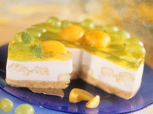 Käsesahnekuchen mit Trauben Rezept