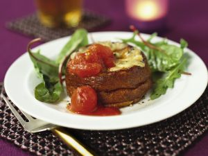 Käsesoufflee mit Tomaten Rezept