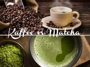 Matcha vs. Kaffee