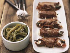 Kalbfleischröllchen mit Käsefüllung Rezept