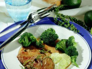 Kalbsschnitzel mit Limettensauce Rezept