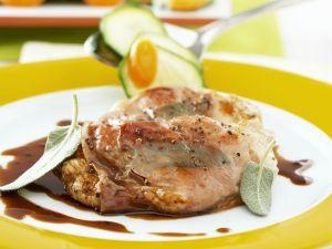 Kalbsschnitzel mit Salbei (Saltimbocca) Rezept