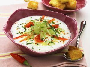 Kalte Gemüsesuppe auf italienische Art Rezept