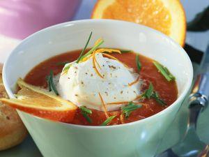 Kalte Tomaten-Orangensuppe Rezept