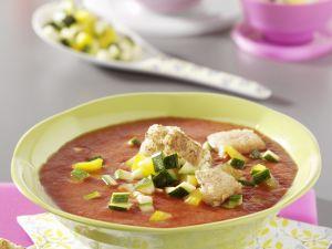 Kalte Tomaten-Paprika-Suppe Rezept