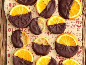 Kandierte Orangen in Schokolade Rezept