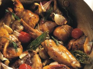 Kaninchen mit mediterranem Gemüse Rezept