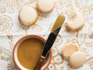 Karamell-Macarons Rezept