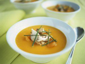 Karottencremesuppe mit Orange und Makrele Rezept