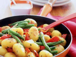 Kartoffel-Bohnen-Pfanne Rezept