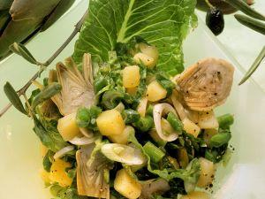 Kartoffel-Bohnensalat mit Artischocken Rezept