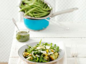 Kartoffel-Bohnensalat mit Rucola Rezept