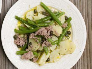 Kartoffel-Bohnensalat mit Thunfisch Rezept