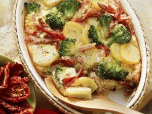 Kartoffel-Brokkoli-Gratin mit Kassler Rezept