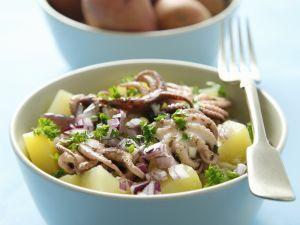 Kartoffel-Calamari-Salat Rezept