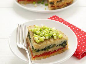 Kartoffel-Gemüse-Kuchen mit Lauchzwiebeln Rezept