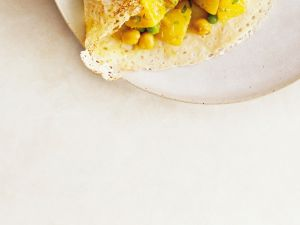 Kartoffel-Kichererbsen-Pfannkuchen Rezept