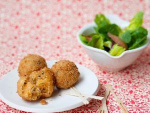 Kartoffel-Kürbisbällchen Rezept