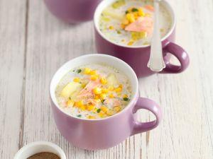 Kartoffel-Maissuppe mit Lachs Rezept