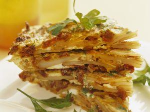 Kartoffel-Omelett mit Speck und getrockneten Tomaten Rezept