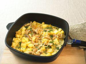 Kartoffel-Omelette mit Fleisch Rezept