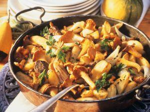Kartoffel-Pfifferlings-Pfanne mit Rinderfilet Rezept