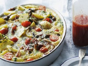 Kartoffel-Rindfleisch-Auflauf mit Gemüse Rezept