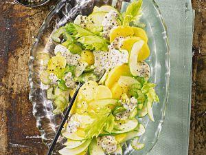 Kartoffel-Selleriesalat mit Äpfeln Rezept