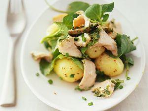 Kartoffel-Spinatsalat mit Thunfisch Rezept