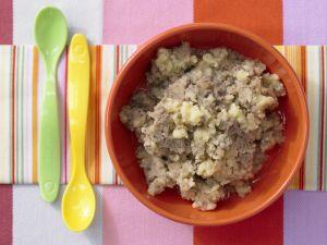 Kartoffelbrei mit Hähnchenleber Rezept