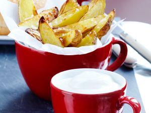 Kartoffelecken mit Sauerrahm Rezept