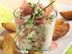 Kartoffelecken mit Schinken-Frischkäse-Creme Rezept